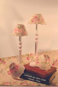 Lampe bougeoir Shabby