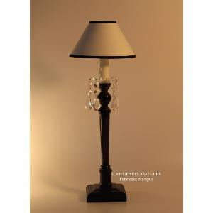 Lampe baroque pampilles