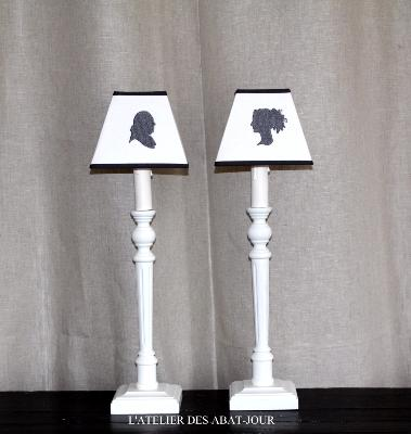Lampe bougeoir blanc